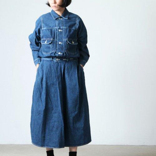 Graphpaper (グラフペーパー) Belted Denim Dress Fade / ベルテッドデニムドレスフェイド