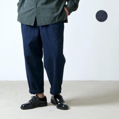 unfil (アンフィル) 14oz organic cotton denim 2tuck trousers / 14オンスオーガニックコットンデニムツータックトラウザース