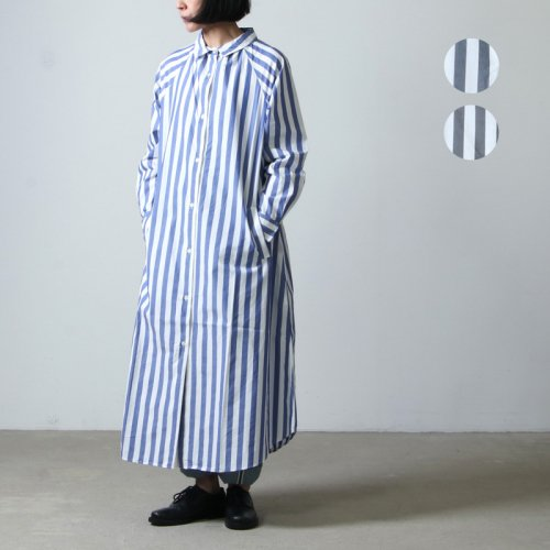 [THANK SOLD] Commencement (コメンスメント) Stripe over shirts onepiece / ストライプオーバーシャツワンピース
