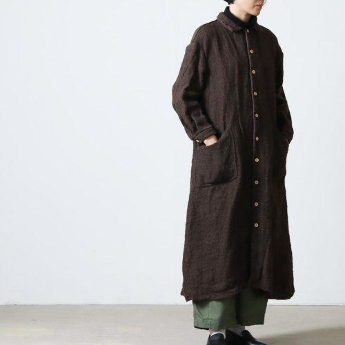 YAECA (ヤエカ) WRITE WORK SHIRT DRESS LINEN WOOL / ライトワークシャツドレスリネンウール