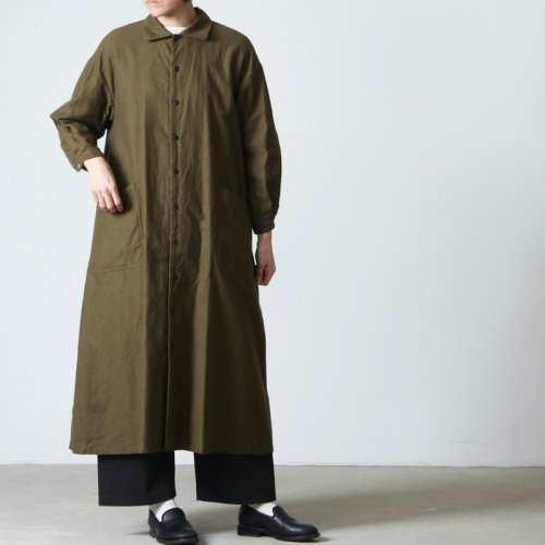 YAECA (ヤエカ) WRITE WORK SHIRT DRESS natural / ライトワークシャツドレスナチュラル