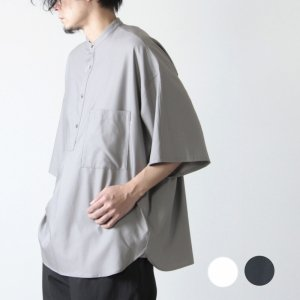 Graphpaper (グラフペーパー) Silk Wool Stand Collar York Short Sleeve Shirt / シルクウールスタンドカラーヨークショートスリーブシャツ