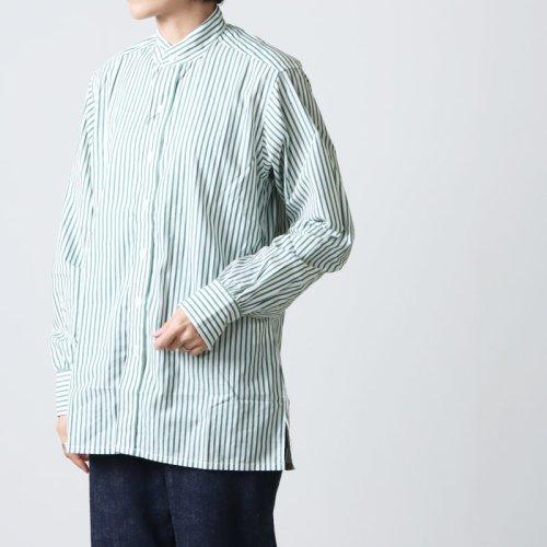 [THANK SOLD] ANATOMICA (アナトミカ) BAND COLLAR SHIRTS BENGAL STRIPE For Women / バンドカラーシャツベンガルストライプ