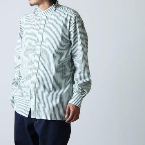 ANATOMICA (アナトミカ) BAND COLLAR SHIRTS BENGAL STRIPE For Men / バンドカラーシャツベンガルストライプ