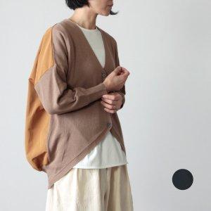 mao made (マオメイド) リネンコットンオックス切り替えカーディガン