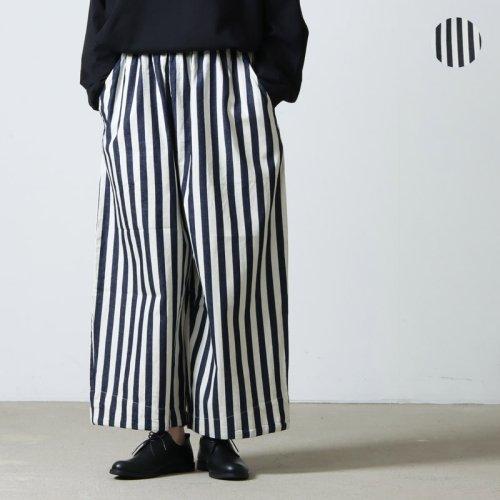 [THANK SOLD] have a good day (ハブアグッドデイ) Stripe volume pants For Women / ストライプボリュームパンツ