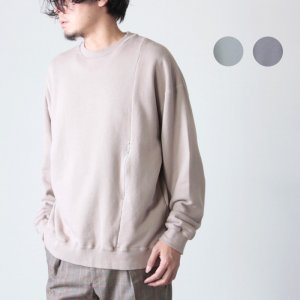 crepuscule (クレプスキュール) garment dye crew jumper / ガーメントダイクルージャンパー