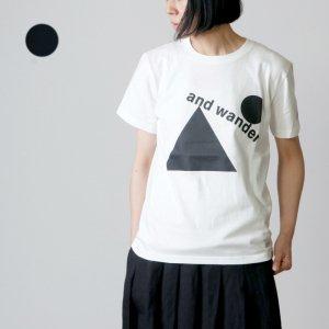 and wander (アンドワンダー) artwork T by Fumikazu Ohara for woman / アートワークTシャツ レディース