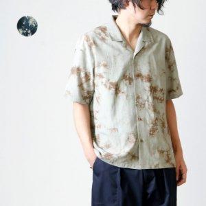 08sircus (ゼロエイトサーカス) R/Co kagozome shirt / レーヨンコットン籠染めシャツ