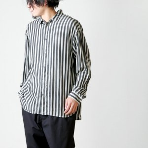 08sircus (ゼロエイトサーカス) Wide stripe garment dyed shirt / ワイドストライプガーメントダイシャツ
