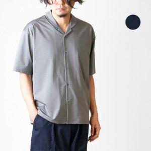 08sircus (ゼロエイトサーカス) Compact plated jersey shawl collar shirt / ジャージーショールカラーシャツ