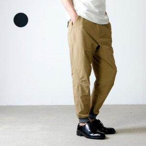 and wander (アンドワンダー) Schoeller 3XDRY stretch saruel pants for man / ストレッチサルエルパンツ メンズ