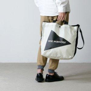 and wander (アンドワンダー) CORDURA big logo tote bag / コーデュラビッグロゴトートバッグ