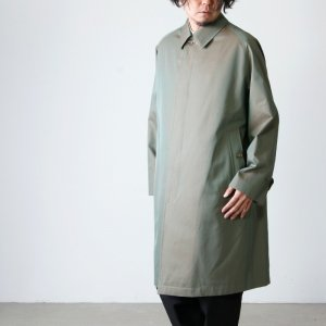 ANATOMICA (アナトミカ) SINGLE RAGLAN � S PROOFED GABARDINE Olive For Men / シングルラグランオリーブ