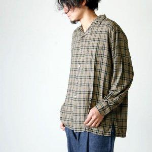 KAPTAIN SUNSHINE (キャプテンサンシャイン) Open Collar L/S Shirt / オープンカラーロングスリーブシャツ