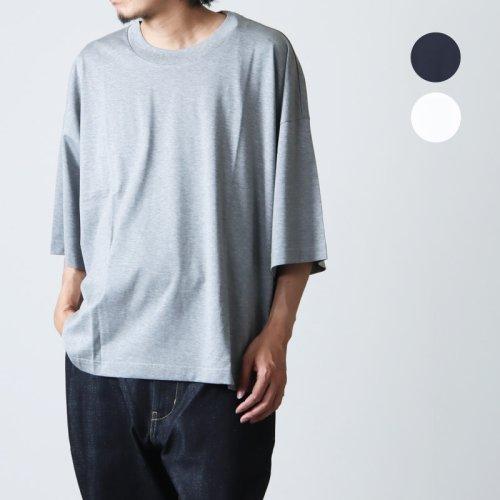 STUDIO NICHOLSON (スタジオニコルソン) SHORT SLEEVE MOCK NECK T-SHIRT PIU / ショートスリーブモックネックTシャツ