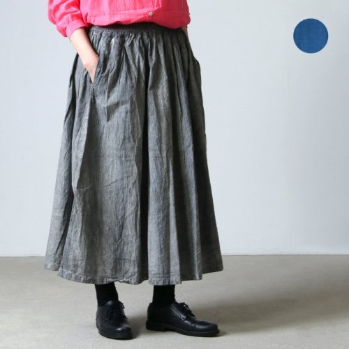 ICHI Antiquites (イチアンティークス) ハンドダイITAJIMEギャザースカート
