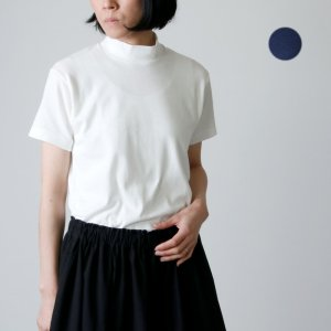 ANATOMICA (アナトミカ) MOCK NECK TEE S/S SOLID For Women / モックネックショーツスリーブティーソリッド