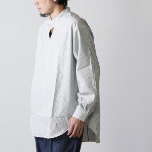 WELLDER (ウェルダー) Buck Side Tucked Band Collar Pullover Shirt / バックサイドタック バンドカラープルオーバーシャツ