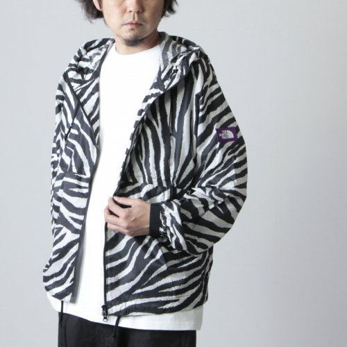 [THANK SOLD] THE NORTH FACE PURPLE LABEL (ザ ノースフェイス パープルレーベル) PERTEX Zebra Print Mountain Wind Parka