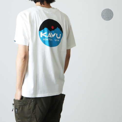 [THANK SOLD] KAVU (カブー) Mountein Logo Tee / マウンテンロゴT