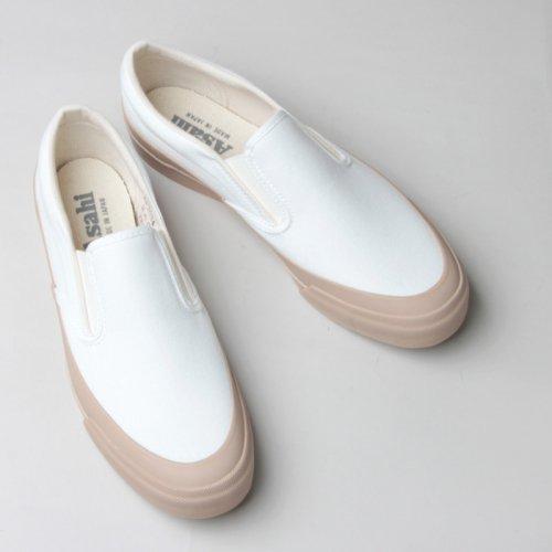 ASAHI (アサヒ) ASAHI DECK SLIP-ON WOMEN - WHITE / BEIGE / アサヒデッキ スリッポン