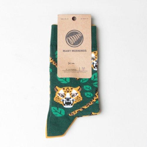 MANY MORNINGS (メニーモーニングス) Regular Socks El Leopardo / レギュラーソックス レオパード
