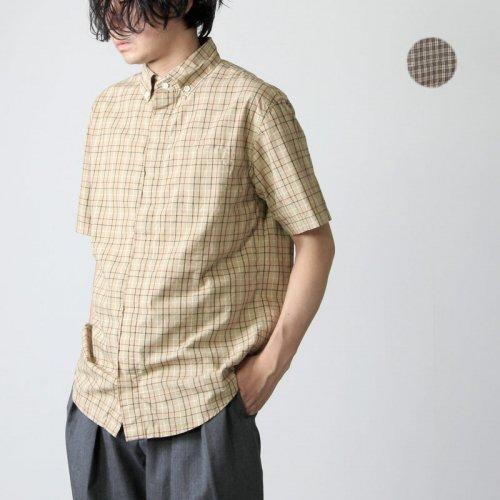 LOLO (ロロ) 比翼ボタンダウン半袖チェック柄シャツ