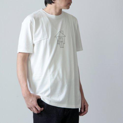 YAECA (ヤエカ) Ken Kagami PRINT TEE window / ケンカガミ プリントTシャツ