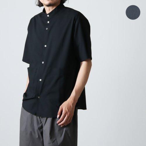 nisica (ニシカ) 半袖バンドカラーシャツ