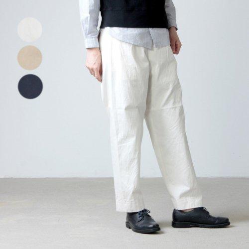 YAECA (ヤエカ) CHINO CLOTH PANTS TUCK TAPERED / チノクロスパンツタックテーパード