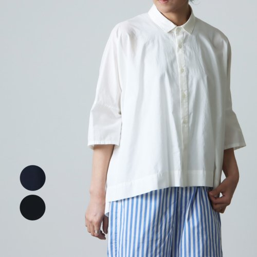 FACTORY (ファクトリー) 綿ドットカジュアル半袖シャツ
