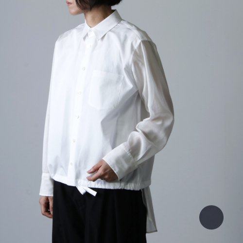 beautiful people (ビューティフルピープル) cotton typewriter drawstring shirt / コットンタイプライタードローストリングシャツ