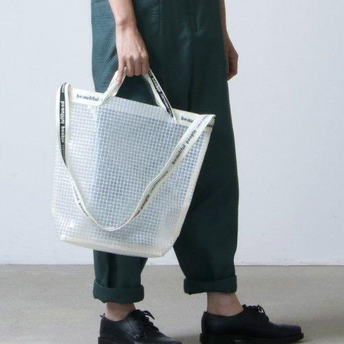 beautiful people (ビューティフルピープル) plaid vinyl logo tape shoulder bag / プレイドビニールロゴテープショルダーバッグ