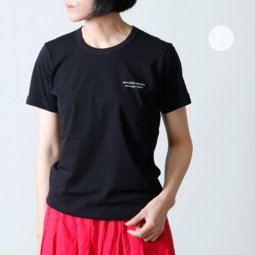 beautiful people (ビューティフルピープル) cotton jersey bp logo T-shirt / コットンジャージービーピーロゴティー