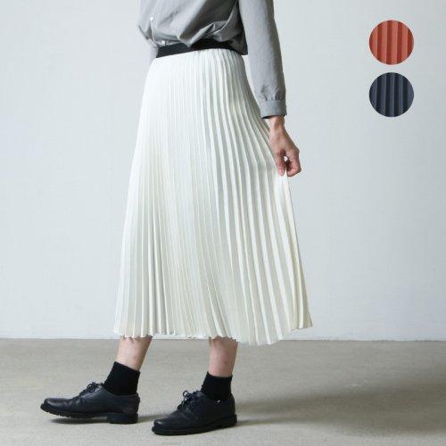 08sircus (ゼロエイトサーカス) Drape satin pleated skirt / ドレープサテンプリーツスカート