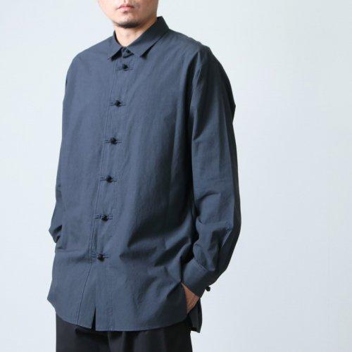08sircus (ゼロエイトサーカス) Grunge cotton china shirts / グランジコットン チャイナシャツ
