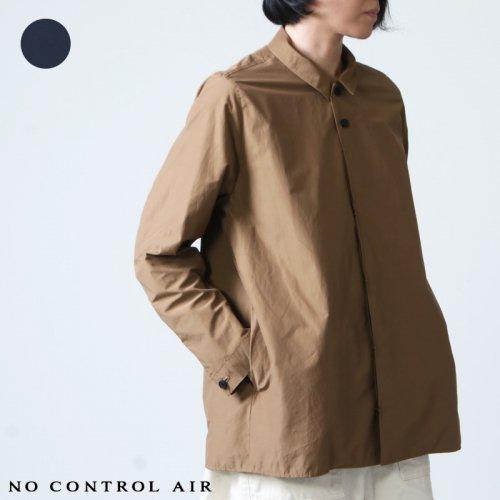 NO CONTROL AIR (ノーコントロールエアー) コットン フルダルポリエステル交織タイプライターステンカラー比翼シャツ