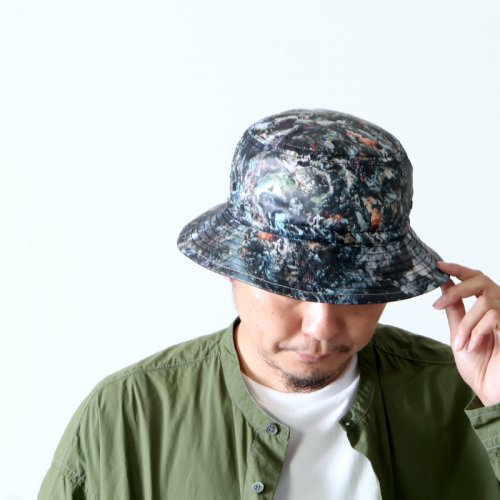 and wander (アンドワンダー) stone printed rip hat / ストーンプリンテッドリップハット