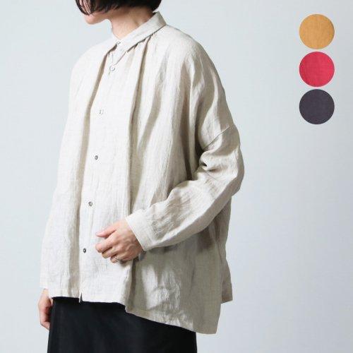 ICHI Antiquites (イチアンティークス) リネンワッシャーギャザーシャツ