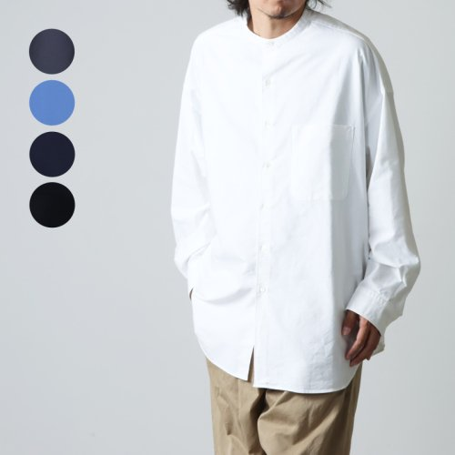 Graphpaper (グラフペーパー) Oxford Oversized Band Collar Shirt / オックスフォードオーバーサイズドバンドカラーシャツ