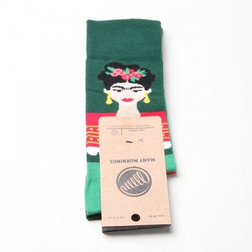 MANY MORNINGS (メニーモーニングス) Regular Socks Feel frida / レギュラーソックス フリーダカーロ