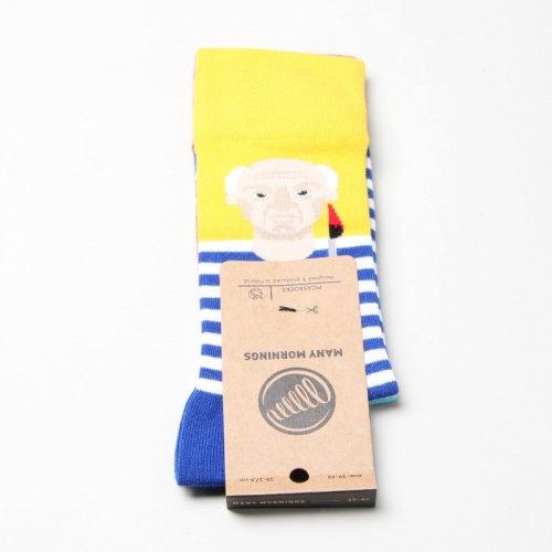MANY MORNINGS (メニーモーニングス) Regular Socks Picassocks / レギュラーソックス ピカソ