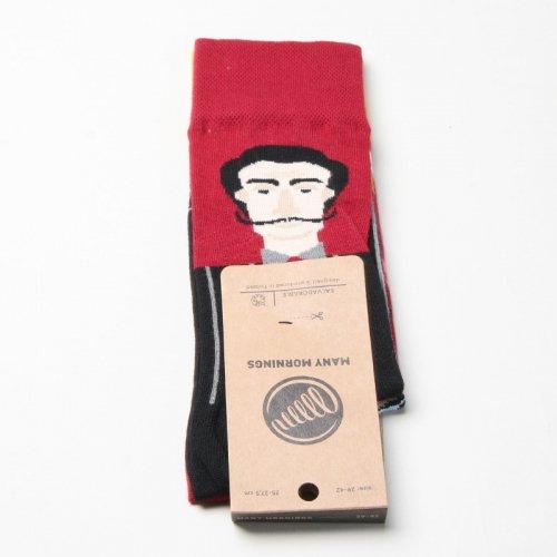MANY MORNINGS (メニーモーニングス) Regular Socks Salvadorable / レギュラーソックス ダリ