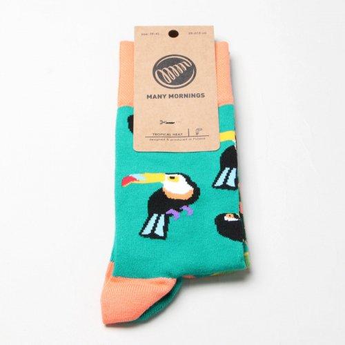 MANY MORNINGS (メニーモーニングス) Regular Socks TropicalHeat / レギュラーソックス トロピカル