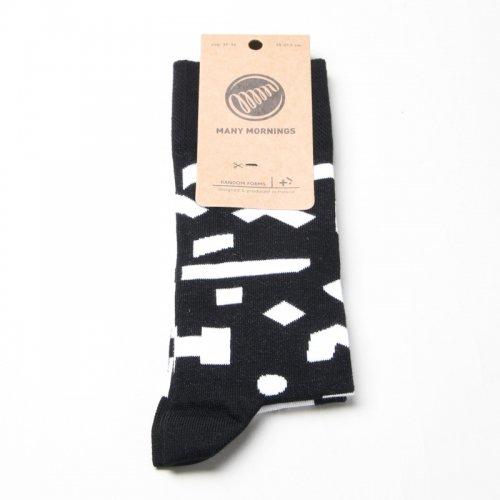 MANY MORNINGS (メニーモーニングス) Regular Socks RandomForm / レギュラーソックス ランダムフォーム