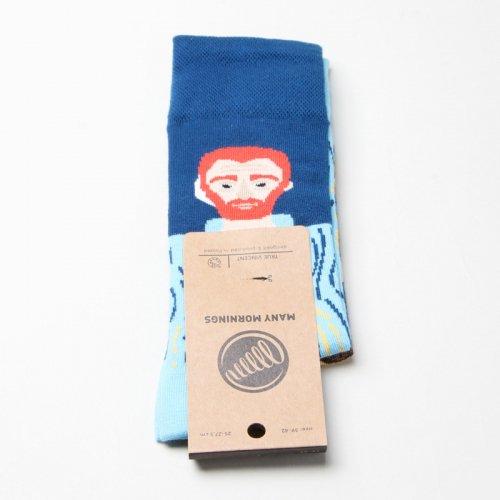 MANY MORNINGS (メニーモーニングス) Regular Socks True Vincent / レギュラーソックス ゴッホ