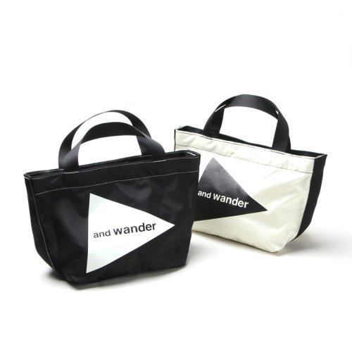 and wander (アンドワンダー) CORDURA logo tote bag small / コーデュラロゴトートバッグスモール