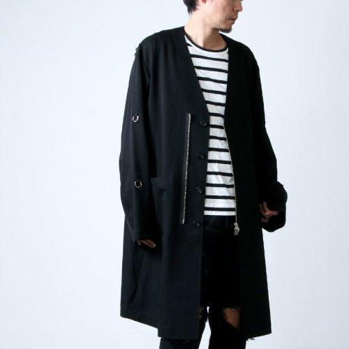 TAKAHIROMIYASHITATheSoloist. (タカヒロミヤシタザソロイスト) collarless doctor jacket / カラーレスドクタージャケット