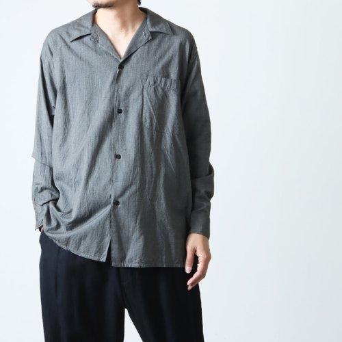 COMOLI (コモリ) シルク プルオーバーシャツ